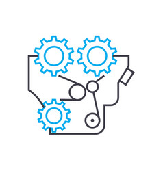 equipment components linear icon concept vector image