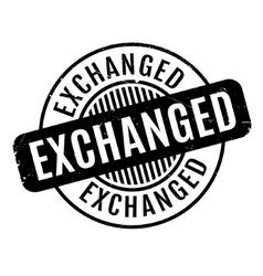Exchanged rubber stamp vector