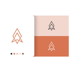 Explorer or compass logo design with simple vector