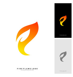 fire logo concept fire leaf logo template vector image