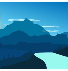 Flat design landscape background vector