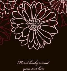 Floral background chamomile black vector