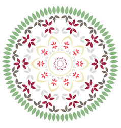 Floral mandala in soft pastel colors vector