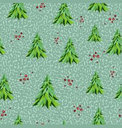 geometric seamless pattern christmas background vector image