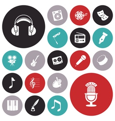 Icons tiled art music sound vector