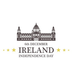 Independence day ireland vector
