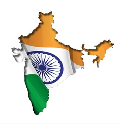 Indian Map Flag vector