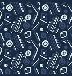Indigo blue memphis style dot circles seamless vector