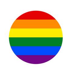 Lgbt rainbow flag isolate banner print flat vector