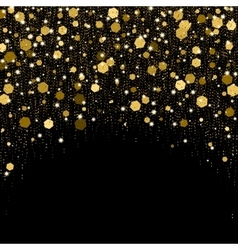 Luxurious greeting card with golden sparkles vector