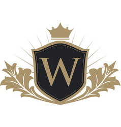 luxury crest logo vector image