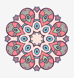 mandala creative circular ornament vector image