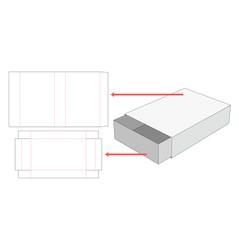 Match box die cut template vector