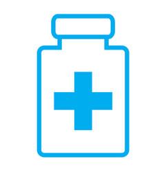 medical bottle flat icon medical bottle sign vector image