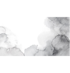 monotone abstract stain watercolor background vector image