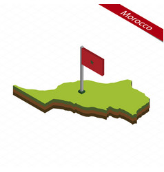 Morocco isometric map and flag vector