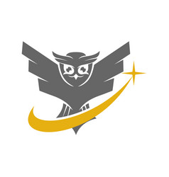 Owl solution logo design template isolated vector
