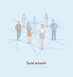 people connected internet global web modern vector image
