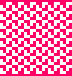 pink and white geometric pattern background vector image