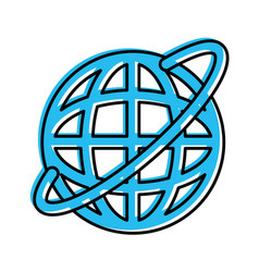 Planet sphere isolated icon vector