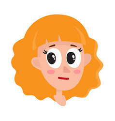 pretty blonde hair woman neutral facial vector image