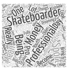 Pro skateboarding word cloud concept vector