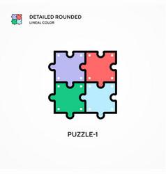 Puzzle-1 icon modern vector