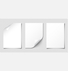 realistic blank paper sheet with shadow in a4 vector image