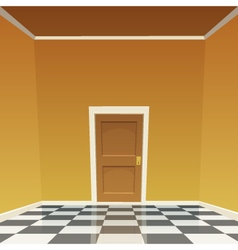Room Door - Yellow vector