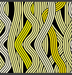 seamless abstract noodle wave pattern vector image