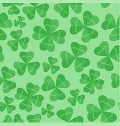 seamless pattern clover leaves st patricks day vector image