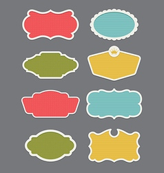 Set of 8 frame or label design elements vector image