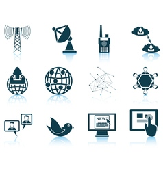 Set of communication vector image
