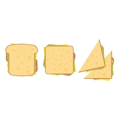 Set of three delicious sandwich vector