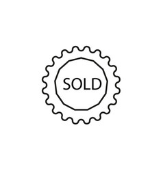 sold tag icon vector image