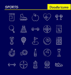 Sports hand drawn icon for web print and mobile vector