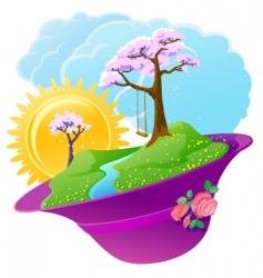 spring season vector image