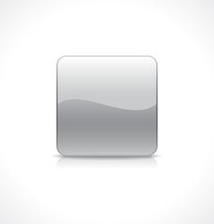 Square silver button vector image
