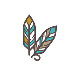 traditional indian feathers vector image