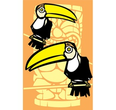 Two Toucans and Tiki vector