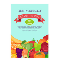 vegetables and fruit set banners vector image