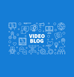video blog horizontal in thin vector image