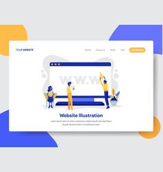Website on desktop concept vector