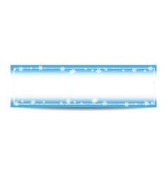 Winter horizontal banner template with silver vector
