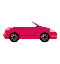convertible sport car vector image