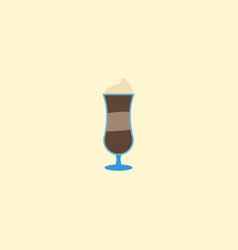 flat icon latte element of vector image vector image