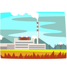 fossil fuel power station electricity generation vector image