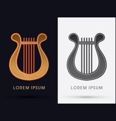 luxury lyre vector image vector image