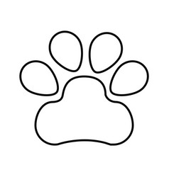 paw footprint isolated icon vector image vector image