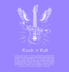 rock n roll music poster vector image